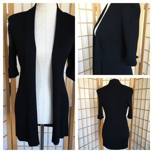 White House Black Market Black Knit Cardigan SZ S
